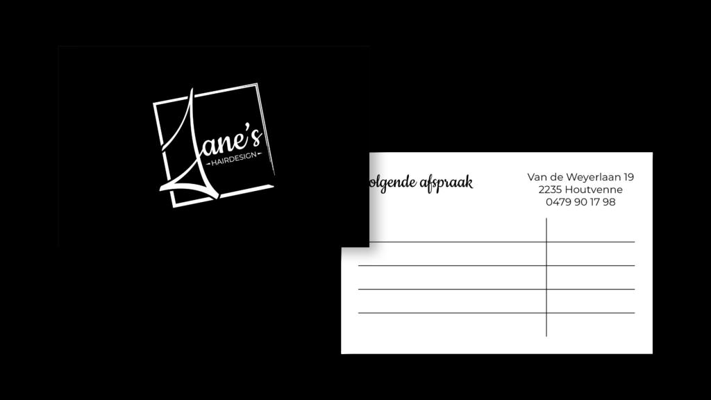Afspraakkaartje Jane's Hairdesign