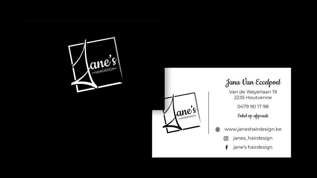 Visitekaartje Jane's Hairdesign