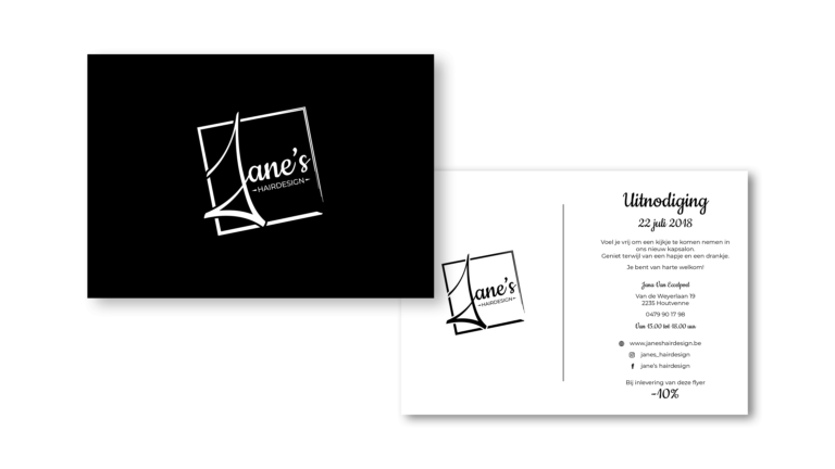 Uitnodiging Jane's Hairdesign