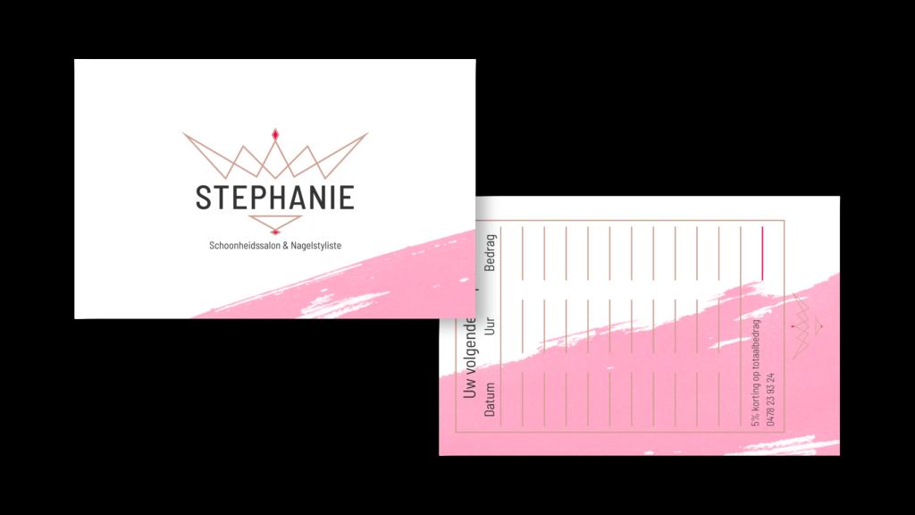 Afspraakkaartje Stephanie